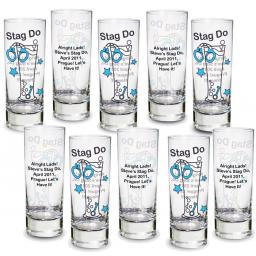 Personalised Stag Do Shot Glass Pack of 10