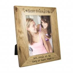 Personalised 7x5 Wooden Frame Best Friends