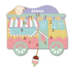 Personalised Ice Cream Truck Quartz Wall Clock Pendulum