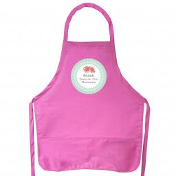 Personalised Vintage Rose Adult Pink Apron