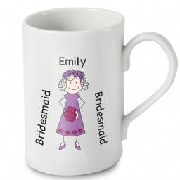 Personalised Cartoon Female Wedding Windsor Mug