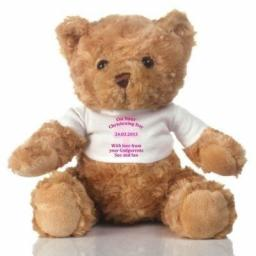 Personalised Teddy Bear Christening Pink