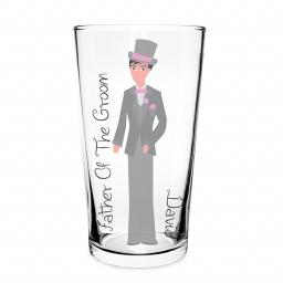 Personalised Fabulous Pilsner Glass Male Role