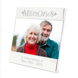 Personalised Memories Silver Square 4x6 Photo Frame