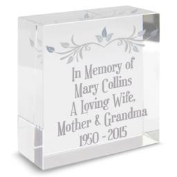 Personalised Sentiments Glass Block