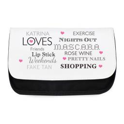 Personalised Ladies Make Up Cosmetic Bag Pouch Top Ten