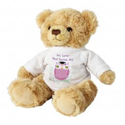 Personalised Message Teddy Bear Miss Owl