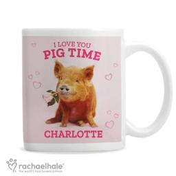 Personalised 'I Love You Pig Time' Mug by Rachael Hale