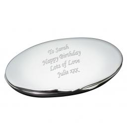 Personalised Oval Compact Mirror
