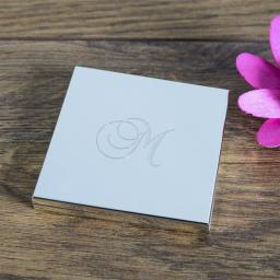 Personalised Square Compact Mirror Add Initial