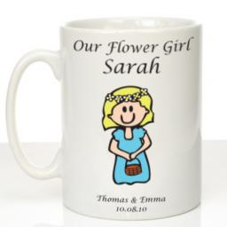 Personalised Wedding Mug Flowergirl