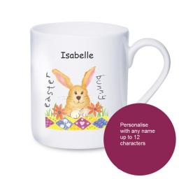Personalised Easter Bunny Name Mug