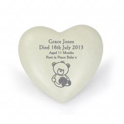 Personalised Teddy Bear Memorial Heart