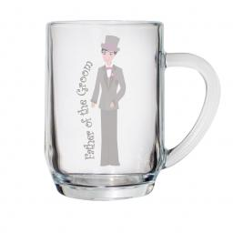 Fabulous Pint Tankard Glass Father of the Groom
