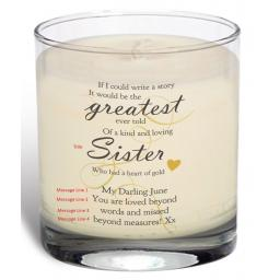 Personalised Memorial Greatest Story Vanilla Scented Jar Candle