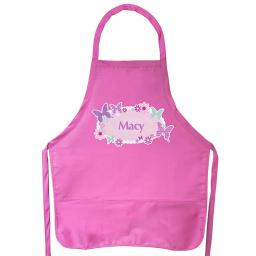 Personalised Pink Butterfly Child's Apron