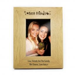 Personalised 6x4 Best Friends Wooden Photo Frame