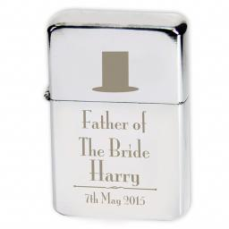 Personalised Lighter Wedding Top Hat Father Of The Bride