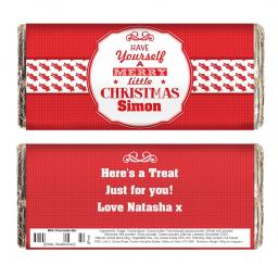 Personalised Have Yourself A Merry Little Christmas Milk Chocolate Bar 100g