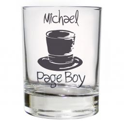 Personalised Top Hat Wedding Juice Glass Male Role