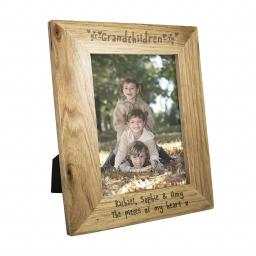 Personalised 7x5 Grandchildren Wooden Frame
