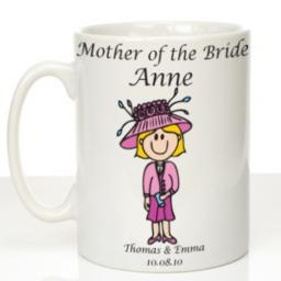 Personalised Wedding Mug Mother of the Bride