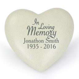Personalised In Loving Memory Memorial Heart