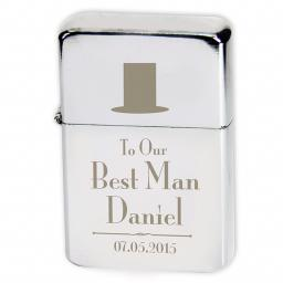 Personalised Lighter Wedding Top Hat Best Man