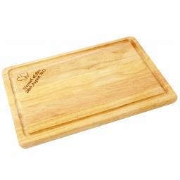 Personalised Wooden Engraved Rectangular Chopping Board with Heart Motif