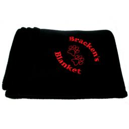 Personalised Luxury Black Pet Blanket