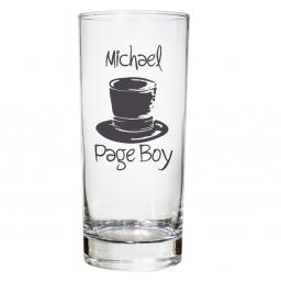 Personalised Top Hat Wedding Hi-Ball Glass Male Role