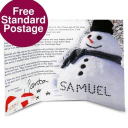 Personalised Snowman Letter From Santa North Pole