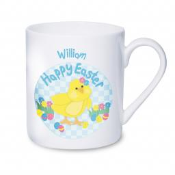 Personalised Happy Easter Chick Mug