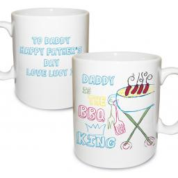 Personalised BBQ King Mug