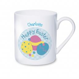 Personalised Happy Easter Eggs Mug
