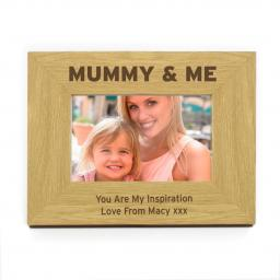 Personalised 4x6 Mummy & Me Wooden Frame