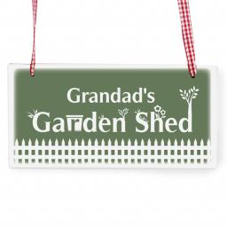 Personalised Garden Shed Wooden Rectangle Sign