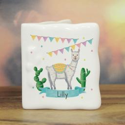 Llama Fiesta Bone China Message Card