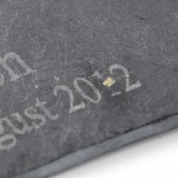 Personalised Script Engraved Pack 4 Slate Coasters