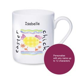 Personalised Easter Chick Name Mug