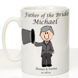 Personalised Wedding Mug Father of the Bride