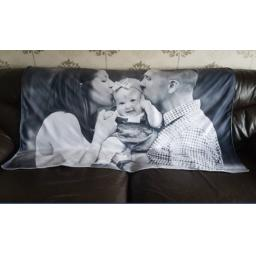 Personalised Photo Blanket / Throw - Choice of Sizes