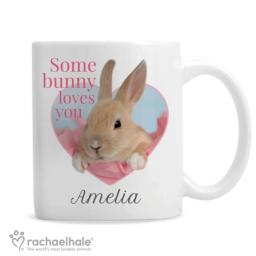 Personalised Some Bunny Loves You Mug by Rachael Hale