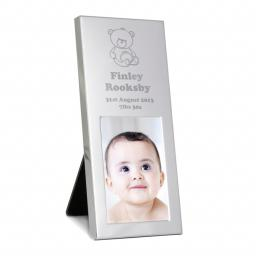 Personalised Teddy Aluminium Photo Frame