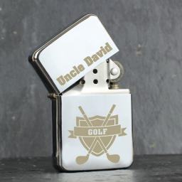 Personalised Lighter Golf Add Name