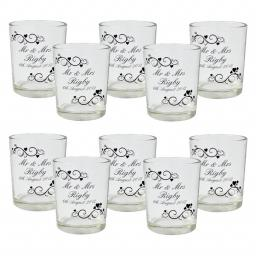 Personalised Ornate Swirl Votive Pack of 10