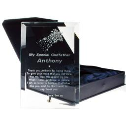 Personalised Engraved Glass Plaque Godfather