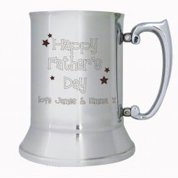 Personalised Father's Day Stainless Steel Tankard
