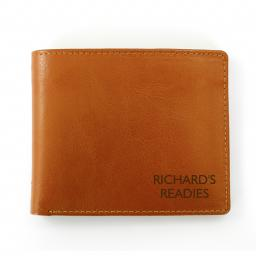 Personalised Message Brown Leather Wallet