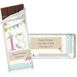Personalised Birthday Craft Chocolate Bar 100g